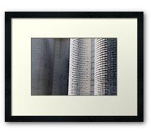 Flint Hills Silos Framed Print