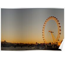 The London Eye and Thames Poster