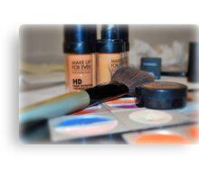 Make-Up Canvas Print