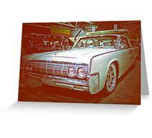 Lincoln Cruiser Greeting Card