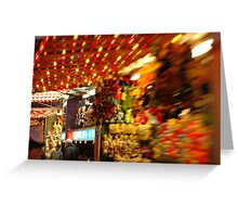 Amusement Park Concession Stand Greeting Card