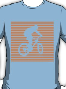Cyclist - orange-lined bike T-Shirt