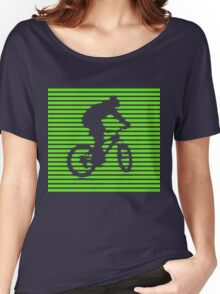 Cyclist - green-lined bike Women's Relaxed Fit T-Shirt