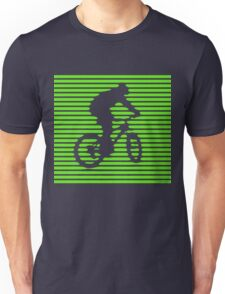Cyclist - green-lined bike Unisex T-Shirt