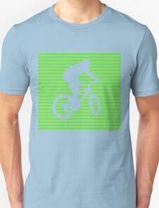 Cyclist - green-lined bike T-Shirt
