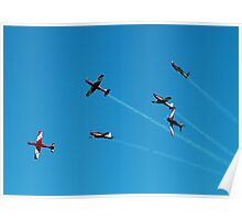 RAAF Roulettes in a whirl - Airshow Downunder 2011 Poster