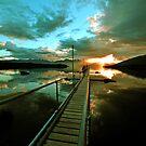 Lake Te Anau at sunset. South Island, New Zealand. (6) by Ralph de Zilva
