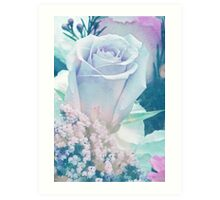 Antiqued Rose Photo Art Print