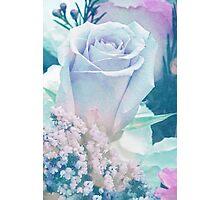 Antiqued Rose Photo Photographic Print