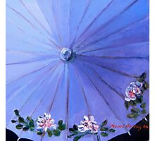 Blue parasol. Acrylic. 31x31cm. Photographic Print