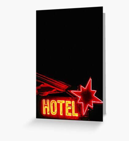 Neon Overnight Greeting Card