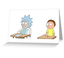 Tiny Rick and Morty Greeting Card