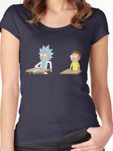 Tiny Rick and Morty Women's Fitted Scoop T-Shirt