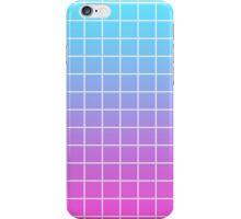 Pink & Blue Grid Gradient iPhone Case/Skin