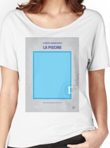 No137 My La piscine minimal movie poster Women's Relaxed Fit T-Shirt
