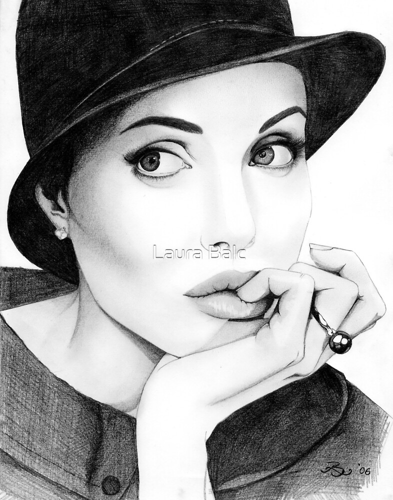 Angelina Jolie  by Laura Balc