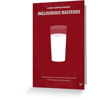No138 My Inglourious Basterds minimal movie poster Greeting Card