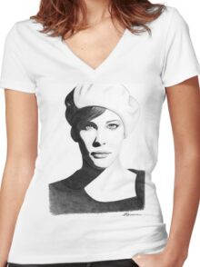 Liv Tyler Women's Fitted V-Neck T-Shirt