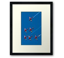 Falling into place Framed Print