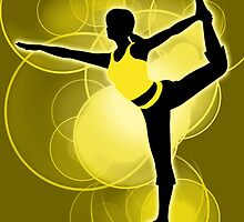 Super Smash Bros. Yellow Wii Fit Trainer (Female) Silhouette by jewlecho