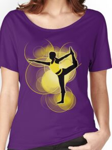 Super Smash Bros. Yellow Wii Fit Trainer (Female) Silhouette Women's Relaxed Fit T-Shirt
