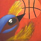 Fairy Wren Basketball by Sarah Curtis