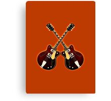 Double eastwood electric guitars Canvas Print
