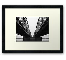 Between the Trusses Framed Print