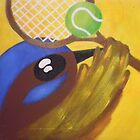 Fairy Wren Tennis by Sarah Curtis