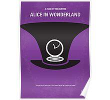 No140 My Alice in Wonderland minimal movie poster Poster
