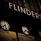 Flinders st station clocks by Andrew Wilson