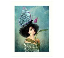 In the Butterfly Garden Art Print