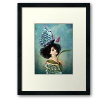 In the Butterfly Garden Framed Print