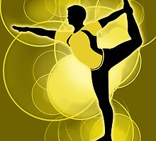Super Smash Bros. Yellow Wii Fit Trainer (Male) Silhouette by jewlecho