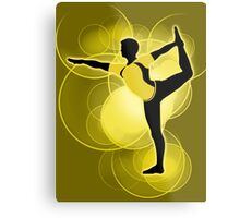 Super Smash Bros. Yellow Wii Fit Trainer (Male) Silhouette Metal Print
