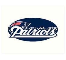 New England Patriots logo 2 Art Print