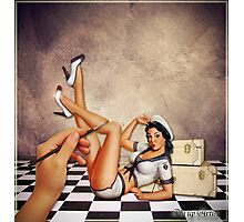 Pin up Artist Photographic Print