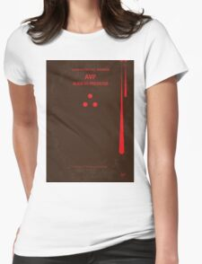 No148 My AVP minimal movie poster Womens Fitted T-Shirt