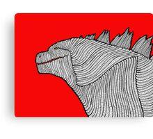 Godzilla (2014) Doodle Canvas Print