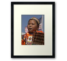 Natural Beauty - Young Jingle Dancer Framed Print