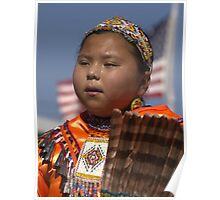 Natural Beauty - Young Jingle Dancer Poster