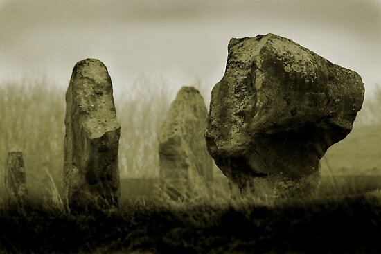 Cold Morning at Avebury Henge by Samantha Higgs