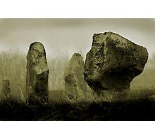 Cold Morning at Avebury Henge Photographic Print