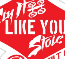 Fly It Like You Stole It Long Sleeve Graphic Tees! Sticker