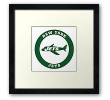 New York Jets logo Framed Print