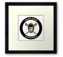 Oakland Raiders logo 1 Framed Print