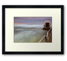 Merewether Ocean Baths - The Dome and Birds Framed Print