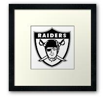 Oakland Raiders logo 2 Framed Print