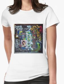 Graffiti collage Womens Fitted T-Shirt