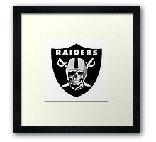 Oakland Raiders logo 4 Framed Print